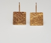 Square earrings goldplated
