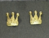 Crown earring goldplated