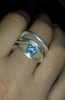 4 waves ring with a topaz