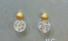 Earrings with rock crystal gold plated